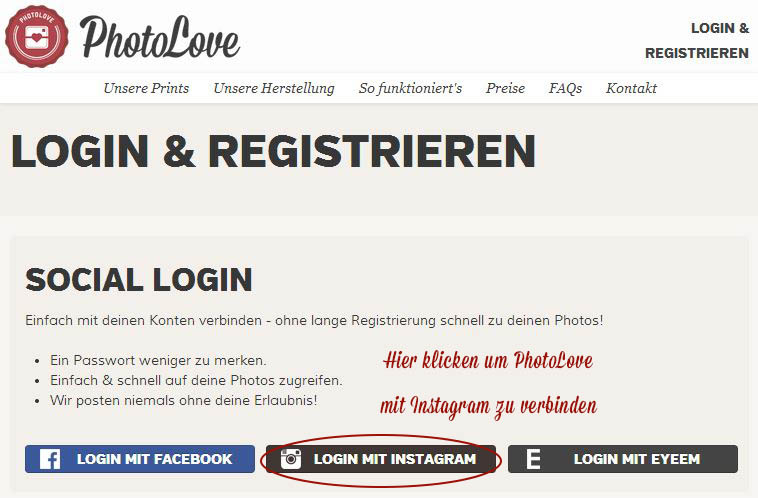 Login & Registrieren