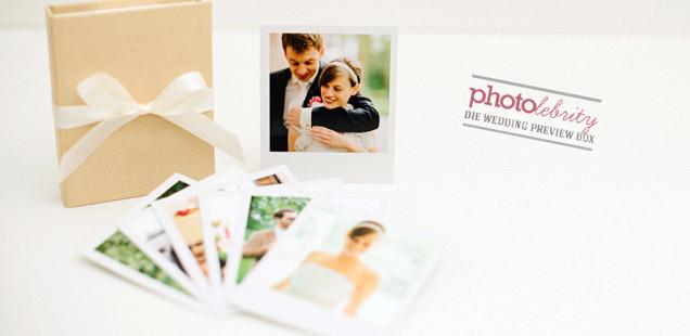 Ihr Brautpaar kann Ihre Photos bereits kurz nach der Hochzeit in edlem Look in den Händen halten! Die Wedding Preview Box zum Verlieben!